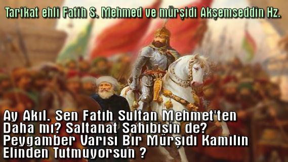 Tarikat Ehli Fatih Sultan Mehmed ve Akşemseddin Hz.